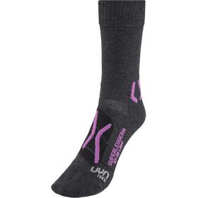 UYN Trekking Superleggera Socks Women Anthracite/Violet